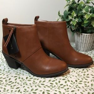 Brand New Forever 21 Chestnut booties size 8.5